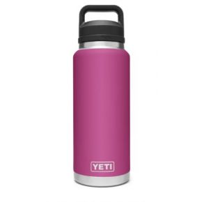 YETI Rambler 36 Oz Bottle With Chug Cap - Prickly Pear Pink Front View