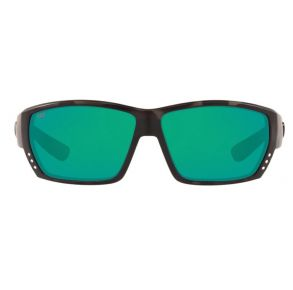 Costa Del Mar Mens Ocearch Tuna Alley Tiger Shark Ocearch Frame - Green Mirror 580 Glass Lens - Polarized Sunglasses Front View
