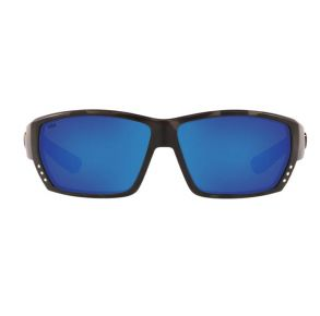 Costa Del Mar Mens Ocearch Tuna Alley Tiger Shark Ocearch Frame - Blue Mirror 580 Glass Lens - Polarized Sunglasses Front View