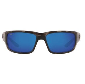 Costa Del Mar Mens Osearch Fantail Tiger Shark Ocearch Frame - Blue Mirror 580 Glass Lens - Polarized Sunglasses Front View