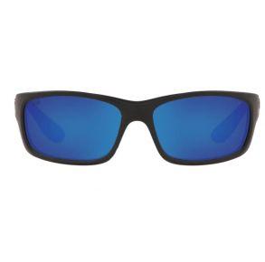 Costa Del Mar Mens Jose Blackout Frame - Blue Mirror 580 Glass Lens - Polarized Sunglasses Front View