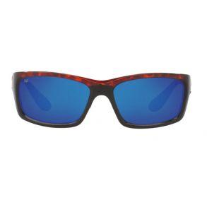 Costa Del Mar Mens Jose Tortoise Frame - Blue Mirror 580 Glass Lens - Polarized Sunglasses Front View