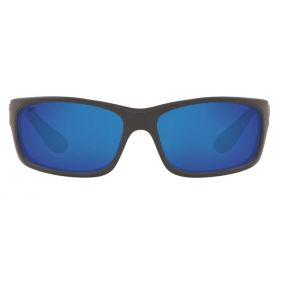 Costa Del Mar Mens Jose Matte Gray Frame - Blue Mirror 580 Glass Lens - Polarized Sunglasses Front View