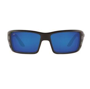 Costa Del Mar Mens Permit  Blackout Frame - Blue Mirror 580 Glass Lens - Polarized Sunglasses Front View
