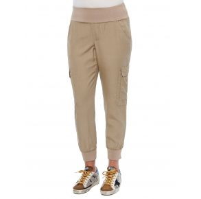 Democracy Womens Pull-on Patch Pocket Utility Jogger Pant Front View