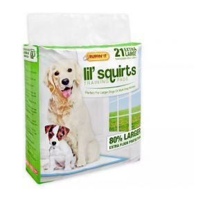 RUFFIN' IT Lil' Squirts Training Pads - Extra Large - 21 Count Front View