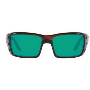 Costa Del Mar Mens Permit Tortoise Frame - Green Mirror 580 Glass Lens - Polarized Sunglasses Front View