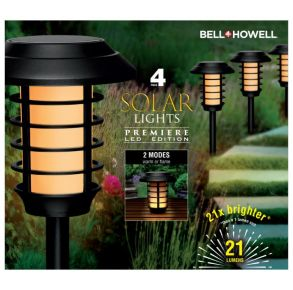 Bell and Howell Pathway Solar Light - Set of 4 Front View