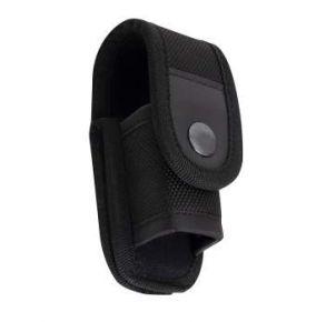Rothco Enhanced Universal Flashlight Holder - Black Front View