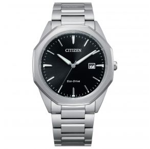 Citizen Mens Corso Eco-Drive Watch - Silver-Tone Stainless Steel Bracelet Front View