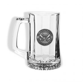 DHS Sparta Pewter Beer Mug Front View