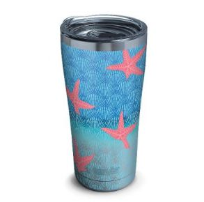 tervis Stainless Steel Tumbler With Slider Lid - 20 oz. - Beach Impressions Front View