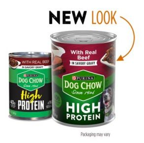 Purina Dog Chow High Protein Wet Dog Food With Beef In Savory Gravy - 13 oz Front View