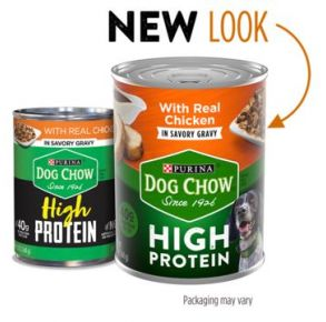 Purina Dog Chow High Protein Wet Dog Food With Chicken In Savory Gravy - 13 oz Front View
