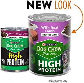 Purina Dog Chow High Protein Wet Dog Food With Lamb In Savory Gravy - 13 oz Front View