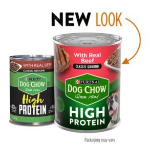 Purina Dog Chow High Protein Classic Ground Wet Dog Food With Beef - 13 oz Front View