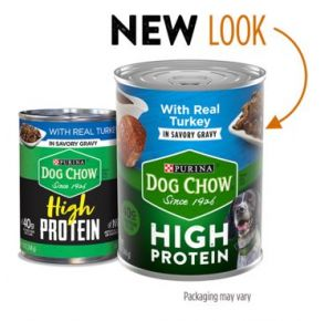 Purina Dog Chow High Protein Wet Dog Food With Turkey In Savory Gravy - 13 oz Front View