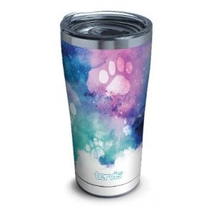 tervis Stainless Steel Tumbler With Slider Lid - 20 oz. - Paw Prints Front View
