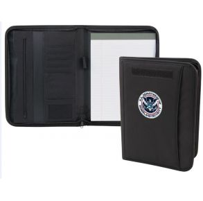 DHS Zipper Padfolio Open and Front View