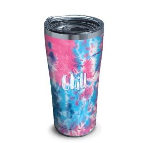 tervis Stainless Steel Tumbler With Slider Lid - 20 oz. - Margaritaville Tie Dye Chill Front View