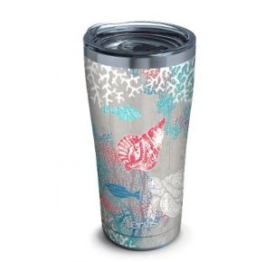tervis Stainless Steel Tumbler With Slider Lid - 20 oz. - Ocean Life Dive Front View