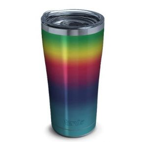 tervis Stainless Steel Tumbler With Slider Lid - 20 oz. - Rainbow Flavor Front View