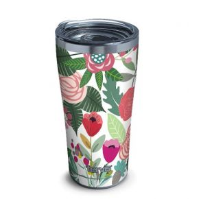 Tervis Budding Bliss Stainless Steel Tumbler with Slider Lid - 20 oz. Front View