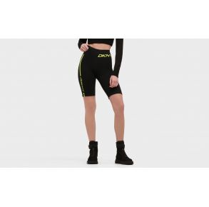 DKNY Womens Sport High Waist Bike Short with Logo Front View