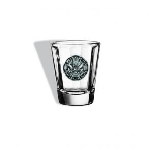 DHS Sparta Pewter Shot Glass Front View