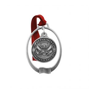 DHS Sparta Pewter Ornament Chain Front View