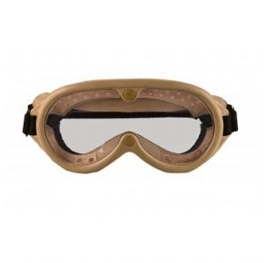 Rothco G.I. Type Sun, Wind & Dust Goggles - Tan Front View