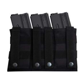 Rothco Lightweight 3Mag Elastic Retention Pouch Front View
