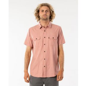 Rip Curl Mens Ourtime Short Sleeve Button Down Shirt Front View