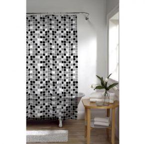 MAYTEX Tiles PEVA Vinyl Shower Curtain Front View