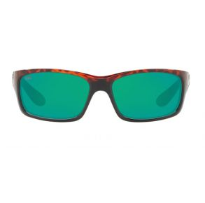 Costa Del Mar Mens Jose Tortoise Frame - Green Mirror 580 Glass Lens - Polarized Sunglasses Front View