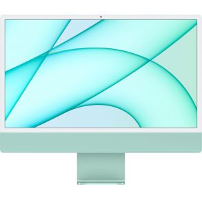 """Apple 24"""" iMac with Retina 4.5K display - Apple M1 - 8GB Memory - 256GB SSD (Latest Model) - Green Front View"""
