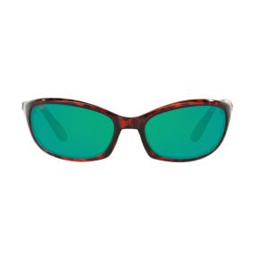 Costa Del Mar Mens Harpoon Tortoise Frame - Green Mirror 580 Plastic Lens - Polarized Sunglasses Front View