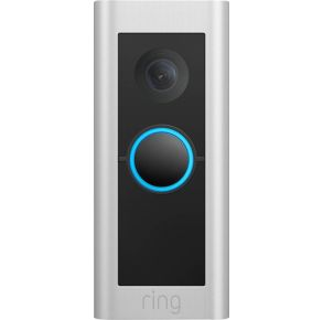 Ring Video Doorbell Pro 2 - Satin Nickle Front View