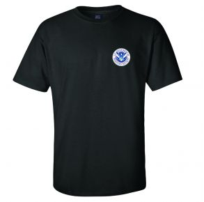 DHS Mens Classic Short Sleeve T-Shirt Front View