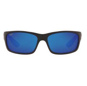 Costa Del Mar Mens Jose Blackout Frame - Blue Mirror 580 Plastic Lens - Polarized Sunglasses Front View
