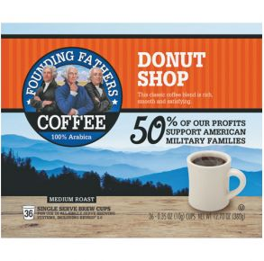 Founding Fathers Donut Shop Medium Roast - 36 Count Front View