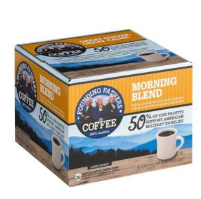 Founding Fathers Coffee Morning Blend Light Roast - 36 Count Front View