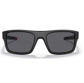 Oakley Standard Issue Drop Point Uniform Collection Matte Black Frame - Gray Lens - Polarized Sunglasses Front View