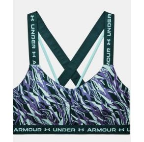 Under Armour Womens UA Crossback Low Print Sports Bra Front View