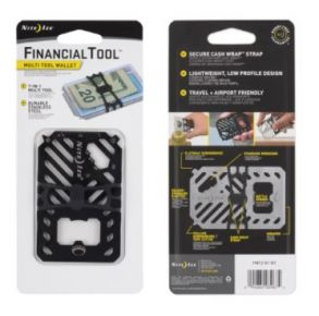 Nite Ize Financial Tool Multi Tool Wallet - Black Front and Back Package View