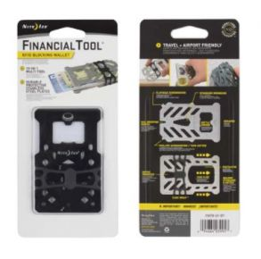 Nite-Ice Financial Tool RFID Blocking Wallet - Black Front and Back Package View