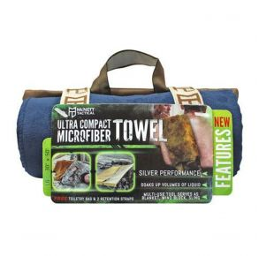 McNett Tactical Ultra Compact Microfiber Towel - Navy Front View