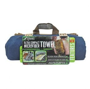 McNett Tactical Ultra Compact Microfiber Towel - Navy - Size XLarge Front Package View