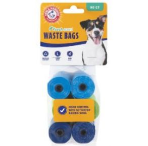 Arm & Hammer Disposable Waste Bag Refills - 90 Count Front Package View