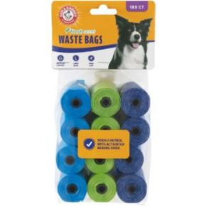 Arm & Hammer Disposable Waste Bag Refills - 180 Count Front Package View